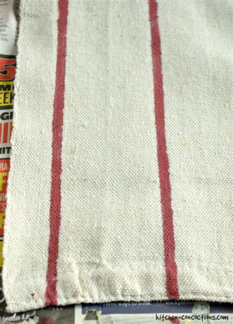 grain sack table runner diy grain sack table runner kitchen concoctions