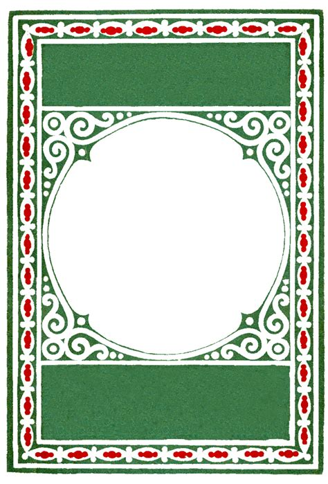 vintage card template and frame