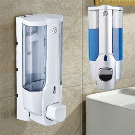 Shower Dispenser Wall Mounted by Bathroom 350ml Wall Mount Soap Sanitizer Shower Shampoo
