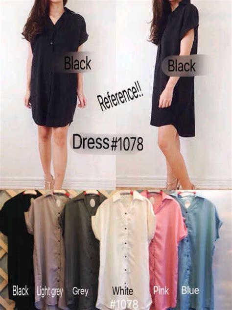 Dress Wanita Remaja Import Bangkok Fashion Korea Olive Midi Dress dress kemeja i l o v e f a s h i o n s s