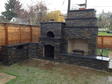 Outdoor Brick Fireplace With Pizza Oven by Fairbairn Family Wood Fired Outdoor Brick Pizza Oven And