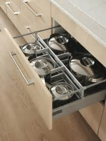 Modern ikea kitchen with cool iders drawer for pots and pans