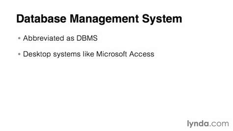 online tutorial database management system what is a database management system dbms