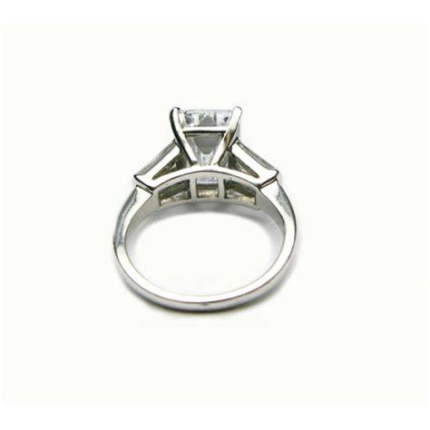 Handmade Emerald Ring - handmade platinum 3 72ct emerald ring with baguettes