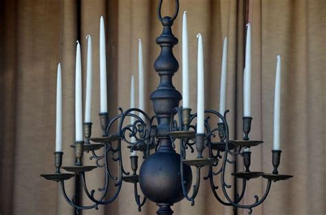 Wax Candle Chandelier Stunning Baroque Bronze Chandelier With Wax Candles At 1stdibs