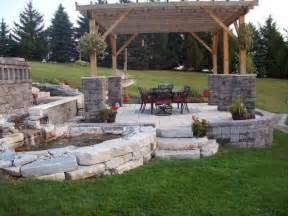 Spacious backyard patio stone designs 6819 home design ideas