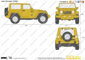 2014 Jeep Wrangler Unlimited Dimensions The Blueprints Vector Drawing Jeep Wrangler