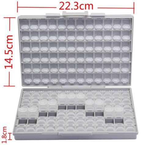 smd resistor capacitor storage box organizer aliexpress buy aidetek box all 144 smd smt resistor capacitor storage box organizer 1206