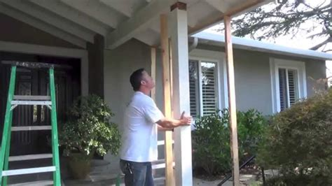 beam x front of house termite post beam replacement diy