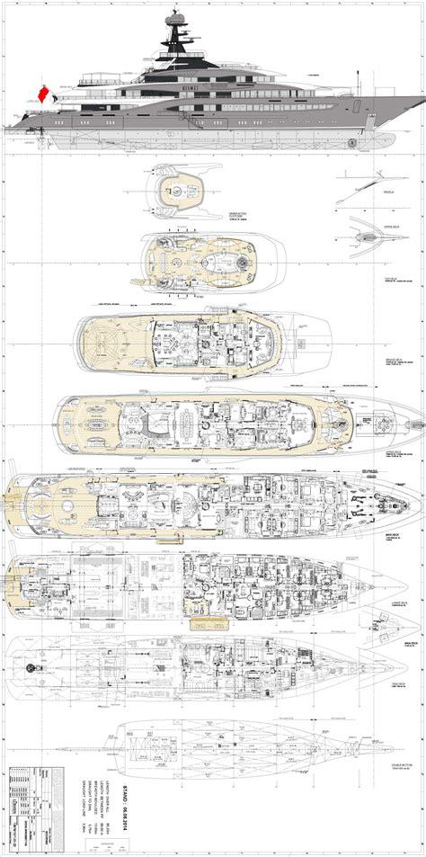 Kismet Yacht Layout | general arrangement deck plans yacht kismet lurssen