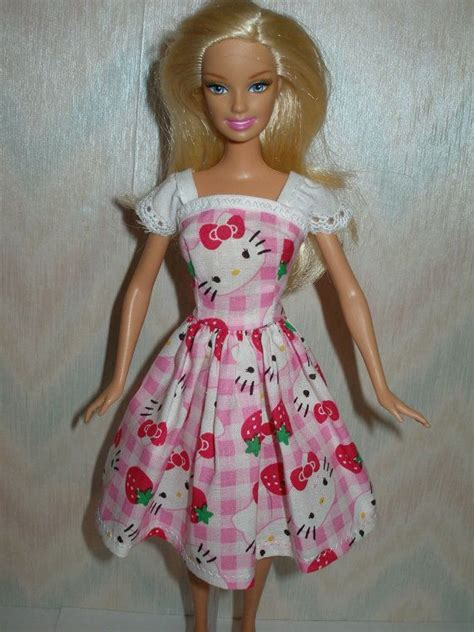 Handmade Doll Dresses - handmade doll clothes pink and white dress