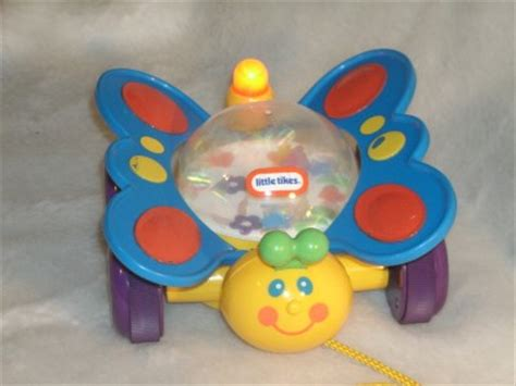 Baby Light Up Toys by Tikes Pull Along Light Up Butterfly Adorable