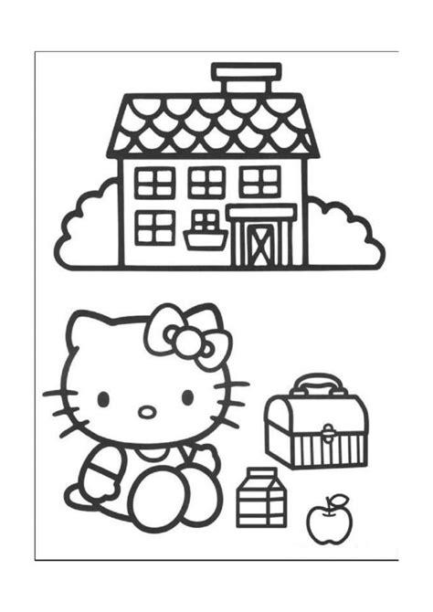 Hello Kitty Målarbilder för barn. Teckningar online till