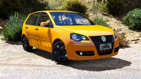 volkswagen hatch volkswagen polo 2008 hatch stock add on replace gta5