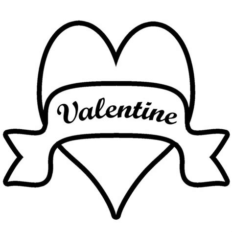 valentines day black and white clip free printable clipartion