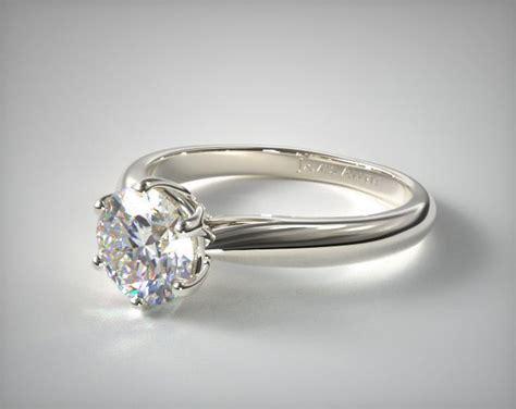 Modern Engagement Rings by Modern Tulip Engagement Ring 14k White Gold