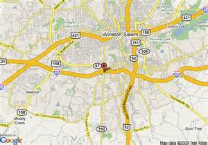 map of inn express winston salem winston salem