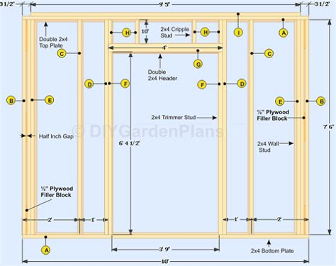 how to build the shed walls detailed for