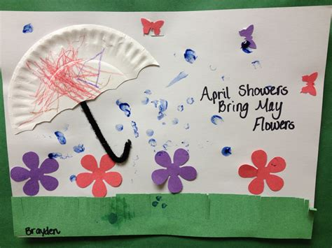 kindergarten themes for april and may preschool spring art april showers bring may flower the