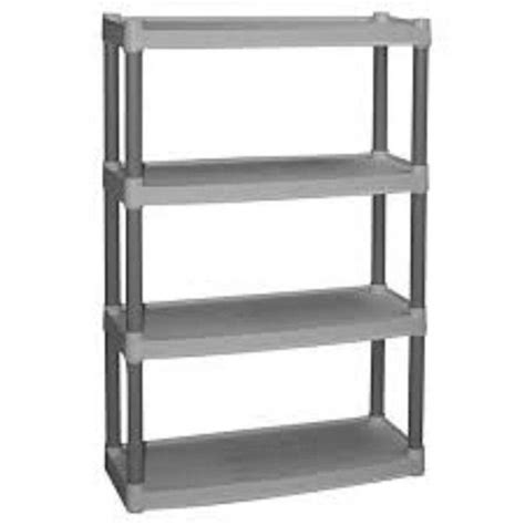 regal plastik plastic 4 shelf storage unit home garage shelving