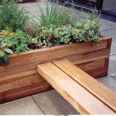 Landscape Timber Outdoor Furniture Hardwood Timber Planter Linking Seats Woodscape Timber