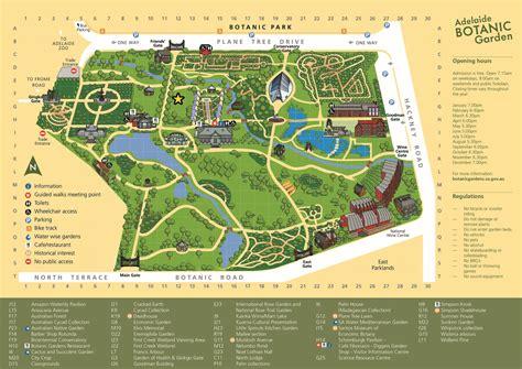 Adelaide Botanic Gardens Map Adelaide Botanic Garden Adelaide Festival