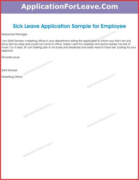 leave letter format going hometown sick leave application letter format reditex co