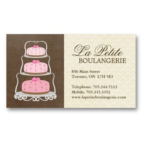 pastry chef business card templates cake bakery business cards pastry chef business cards