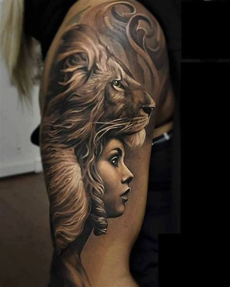 queen face tattoo check out this amazing blackandgrey tattoo work done by