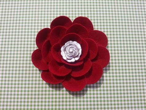 fiori di feltro schemi tutorial fiore facile di feltro cartoncino