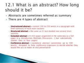 How To Write Abstract For Paper Presentation Chapter 12 Abstract English For Writing Research Papers