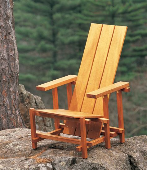 american woodworking aw reitveld chair popular woodworking magazine