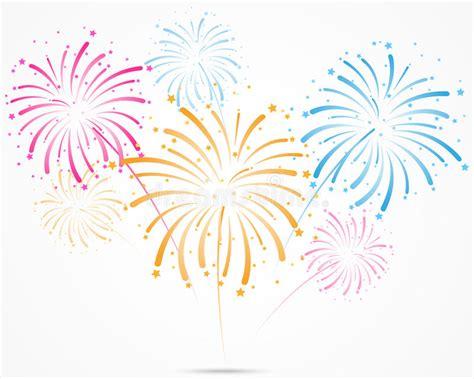 clipart fuochi d artificio scoppio dei fuochi d artificio con le stelle e le