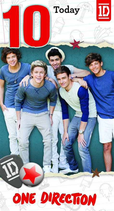One Direction Birthday Cards One Direction Age 10 Birthday Greeting Card
