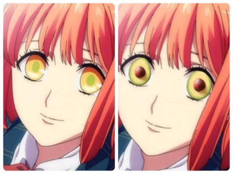 mata anime mengerikan tambahkan alpukat pada matanya