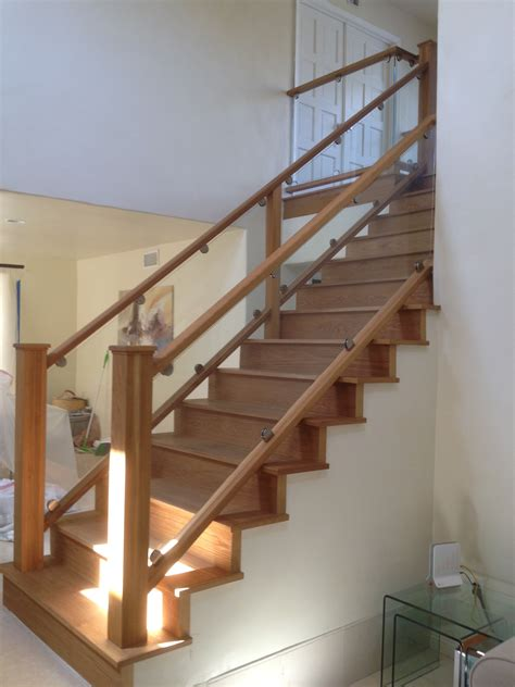 glass staircase banister glass railings in torrance ca california reflections