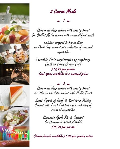 3 course dinner menu wedding dresses and evening dresses show buffet or