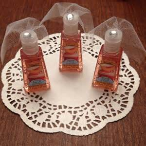 sanitizer with tule veils for bridal shower