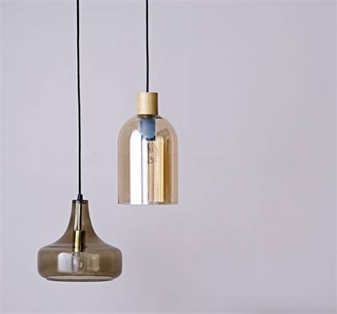 Glass Blown Pendant Lighting Blown Glass Pendant Lights By The Forest Co Notonthehighstreet