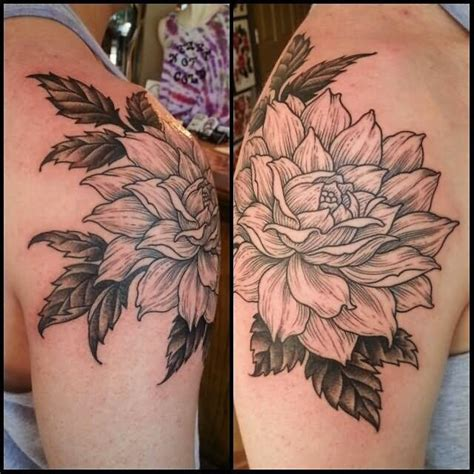 black dahlia tattoo 45 beautiful dahlia tattoos
