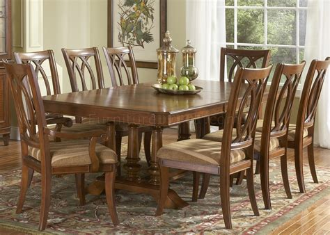 medium brown cherry finish formal dining table woptions
