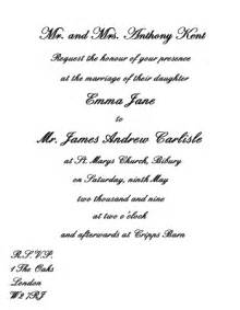 how should wedding invitations be written wedding invitations written or typed archives the