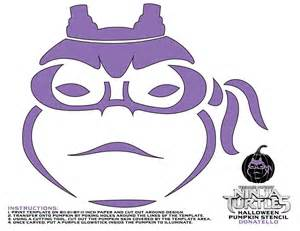 Tmnt Pumpkin Template by Mutant Turtles Pumpkin Stencils For