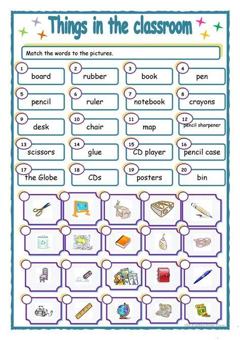 worksheet things in the classroom things in the classroom worksheet free esl printable