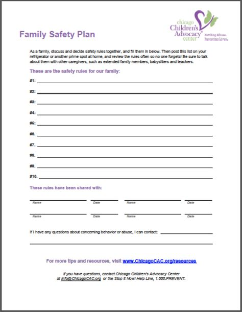 safety plan template template safety plan template