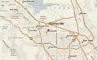 where is sunnyvale california on a map sunnyvale location guide