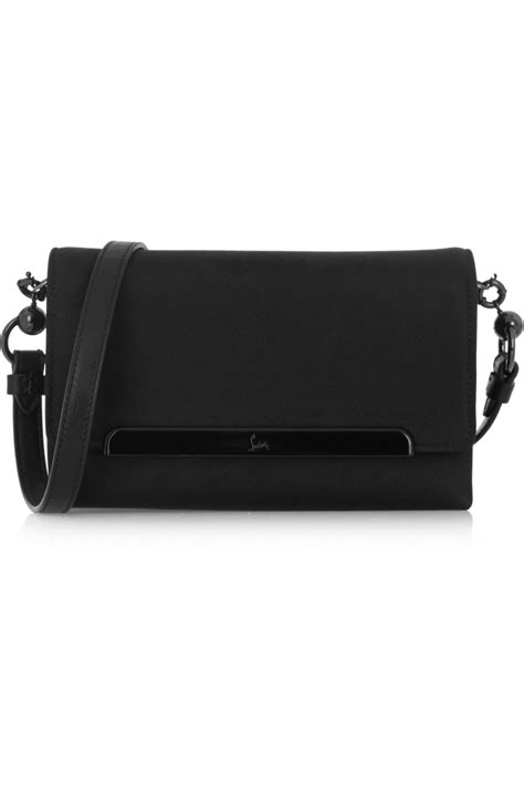Christian Louboutin Satin Clutch by Christian Louboutin Rougissime Leather Trimmed Satin
