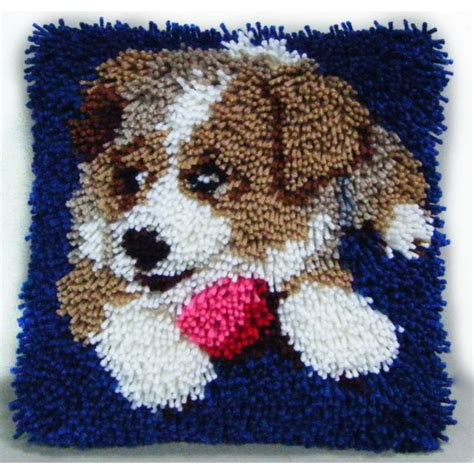 latch rug kits hobbycraft puppy latch hook kit 30cm hobbycraft