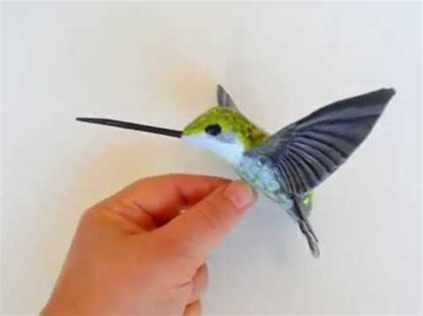 How To Make A Hummingbird Out Of Paper - hummingbird designer paper mache bird sculpture