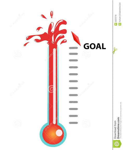 goal thermometer royalty free stock photos image 22272778